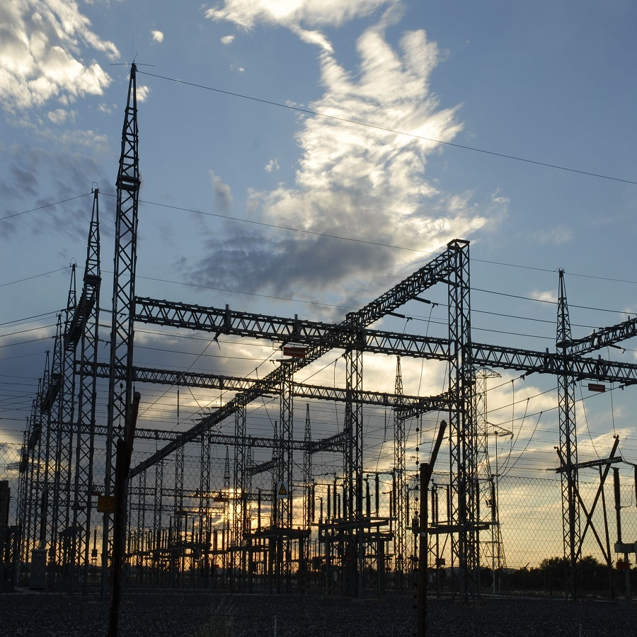 South Africa, Northern Cape Province, 2008: The Gordonia substation  for Eskom power supply to Upington.