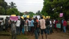 Protesters in Onitsha against EEDC