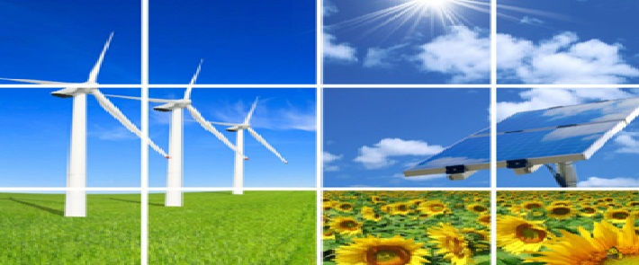 Composition of alternative energies:clean   energies from the nature.