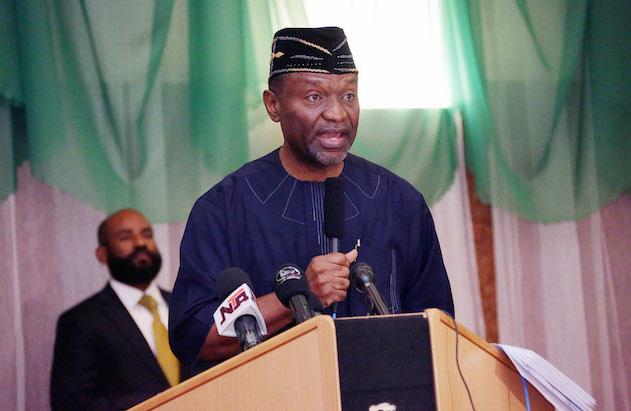 BUDGET BREAKDOWN 0A&B. R-L; Minister of Budget and National Planning, Senator Udoma Udo Udoma presenting the 2016 budget breakdown at the State House in Abuja. PHOTO; SUNDAY AGHAEZE. MAY 12 2016.