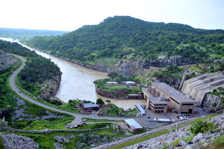 PIC. 4. A VIEW OF SHIRORO HYDROELECTRIC POWER   STATION WITH THE TAILRACE OF USED WATER IN NIGER STATE    ON WEDNESDAY (31/8/11).